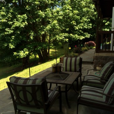 Enjoy amazing garden views and grill or entertain outdoors